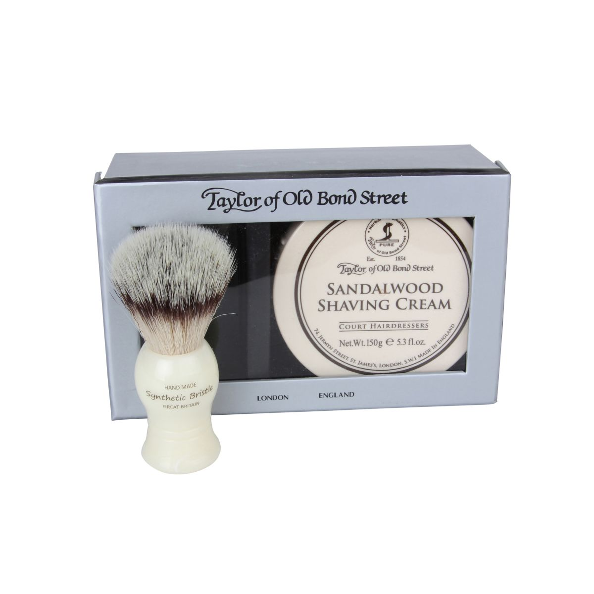 00206 sandalwood brush out - Taylor Of Old Bond Street Shaving Gift Set - 00206