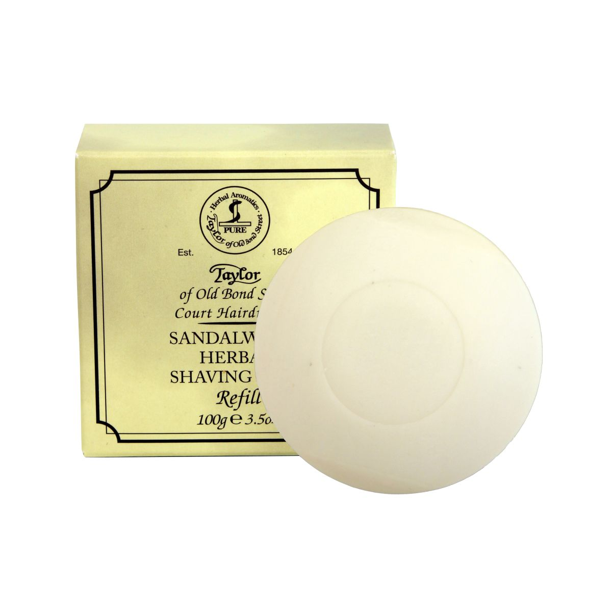 01051 New 2015 - Taylor Of Old Bond Street Sandalwood Soap Refill - 01051