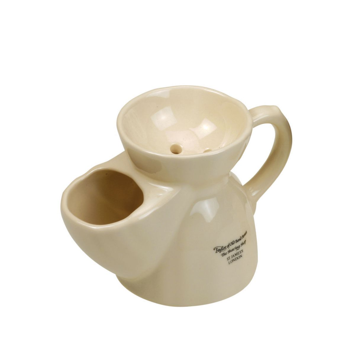 01070 1 1 - Taylor Of Old Bond Street Traditional Ivory Ceramic Shaving Mug - 01070
