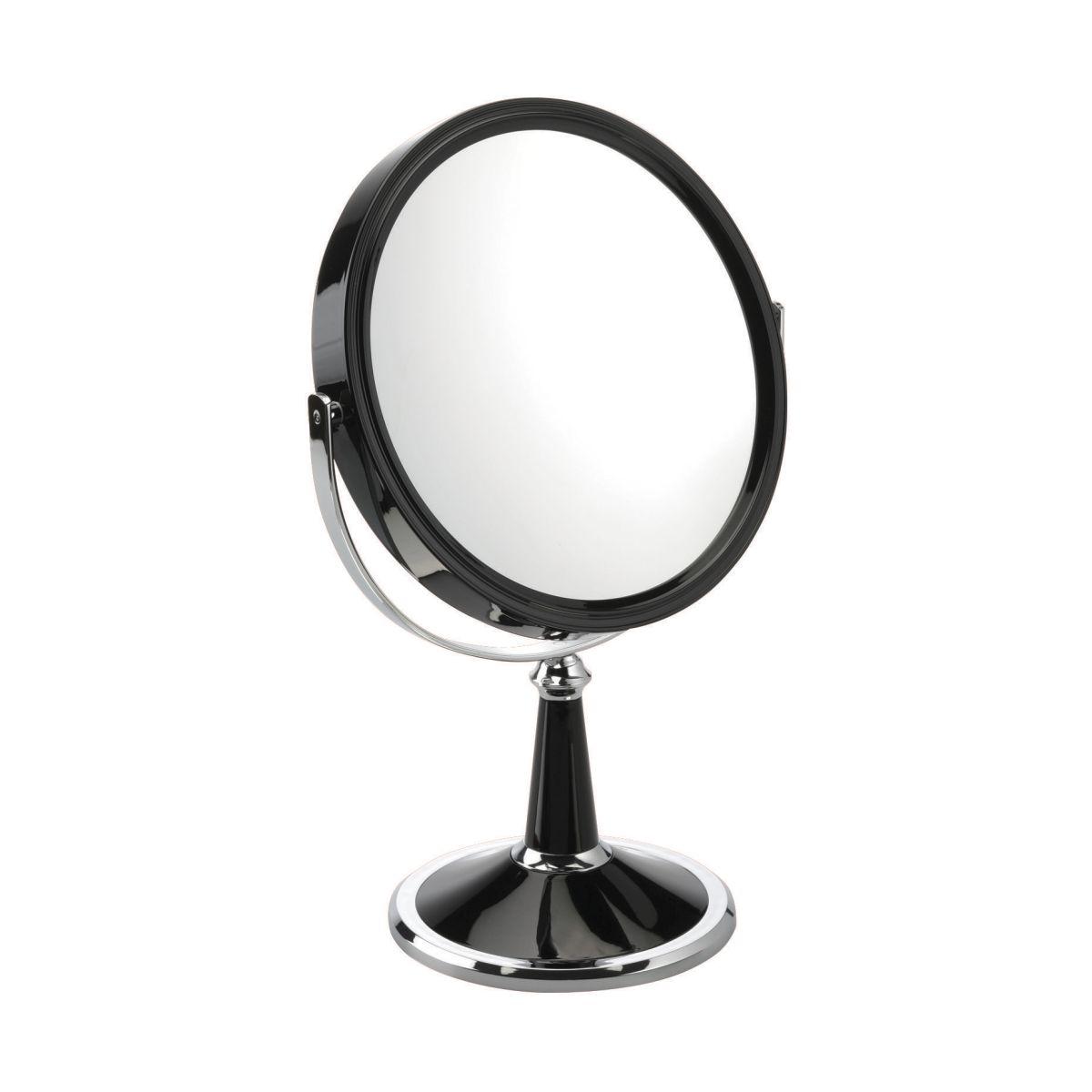 1009 20 BLKX10 1 - Milly' 10x Magnification Pedestal Mirror - 100920B