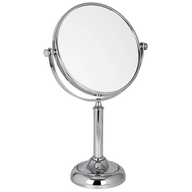 1021 15 Mid Chrome 10 x - 10x Magnification Chrome Pedestal Mirror - 1021/15CHR