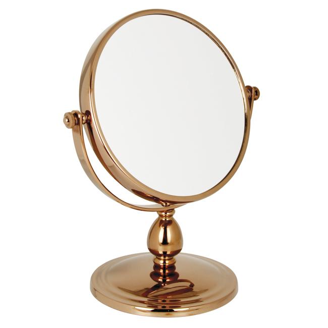 1093 15 Rose gold 10 x - 10x Magnification Pedestal Mirror - 1093/15RG