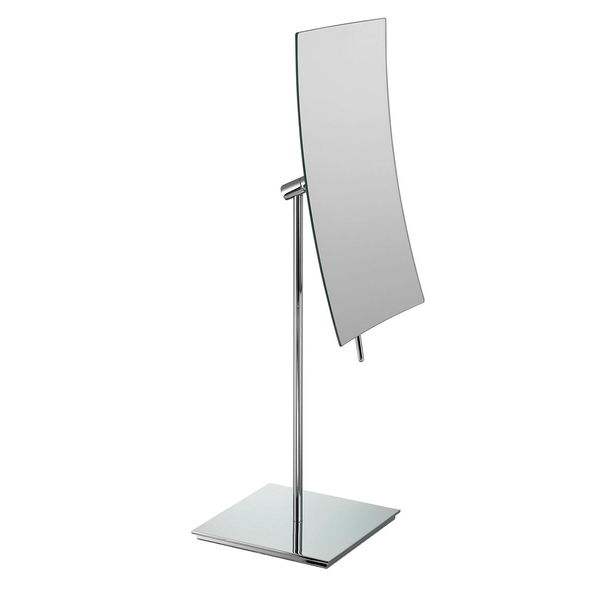 1200 155 24 chr a - Mirror Pedestal 3x Magnification Rimless 'Topaz' - 155/24