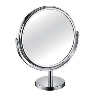 1200 330 30 chrome 330x330 - Mirror Pedestal Chrome Large Diameter 3x Magnification 'Tess' - 330/30CHR