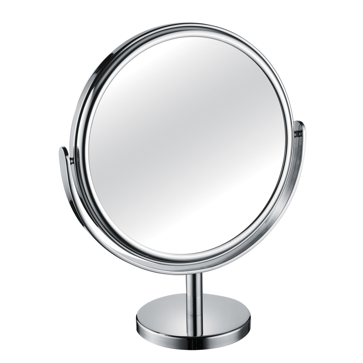 1200 330 30 chrome - Mirror Pedestal Chrome Large Diameter 3x Magnification 'Tess' - 330/30CHR