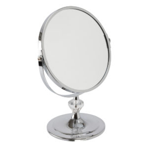 Chrome Pedestal Mirror 'Paige' Mini - 5530/18CHR