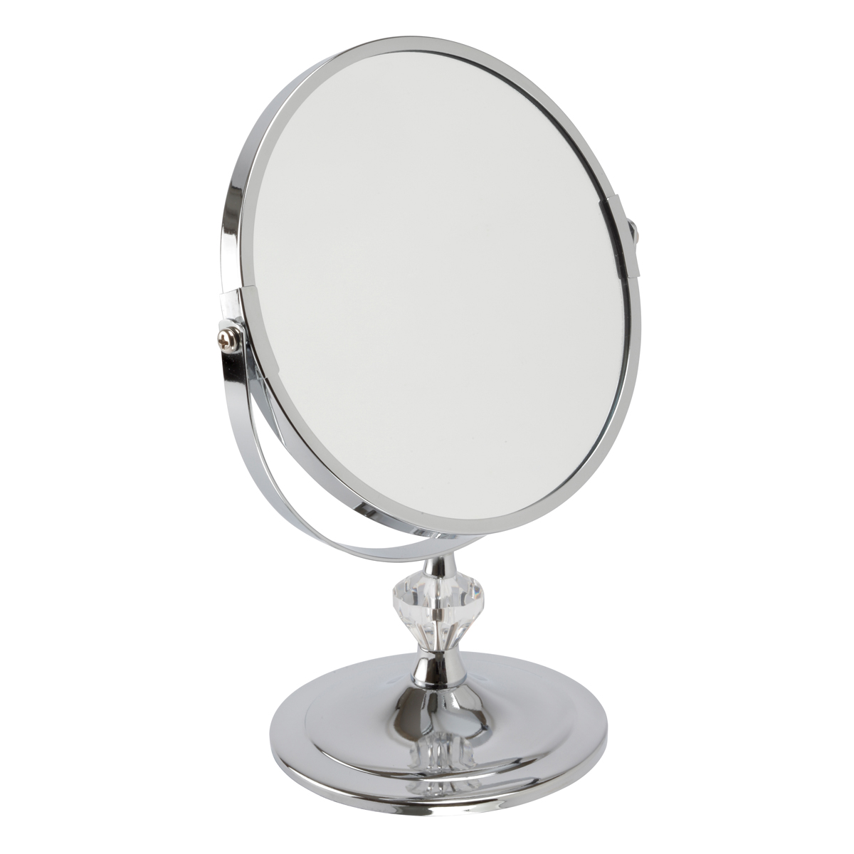 Chrome Pedestal Mirror 'Paige' Mini - 5530/18CHR