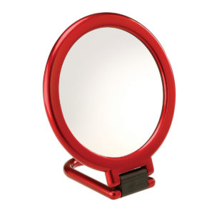1200 961 13 red 300x300 - Red Devil' 3x Magnification Folding Travel Mirror - 96113RED