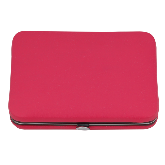 1212 pink - Pink Manicure Set In A Chrome Edged Frame - 1212PINK