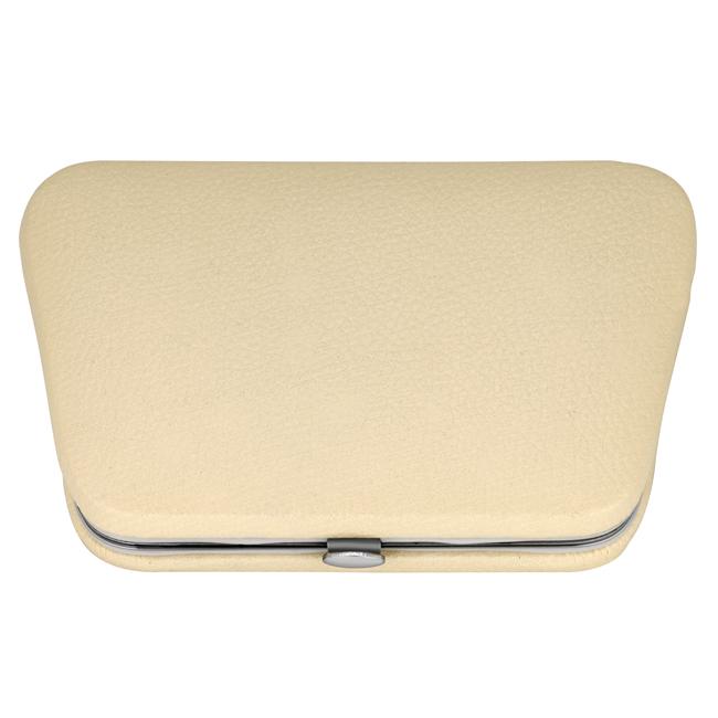 1213 beige - Beige Manicure Set In A Chrome Edged Frame - 1213BEIGE