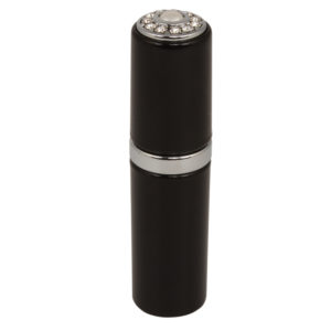 19003 Black PC 300x300 - Black Atomizer wint Inlaid Pearl & Swarovski Crystal Elements  - 19003SBLK