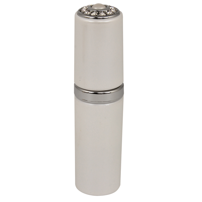 19003 Pearl PC - Pearl Atomizer with Inlaid Pearl & Swarvoski Crystal Elements - 19003PEARL