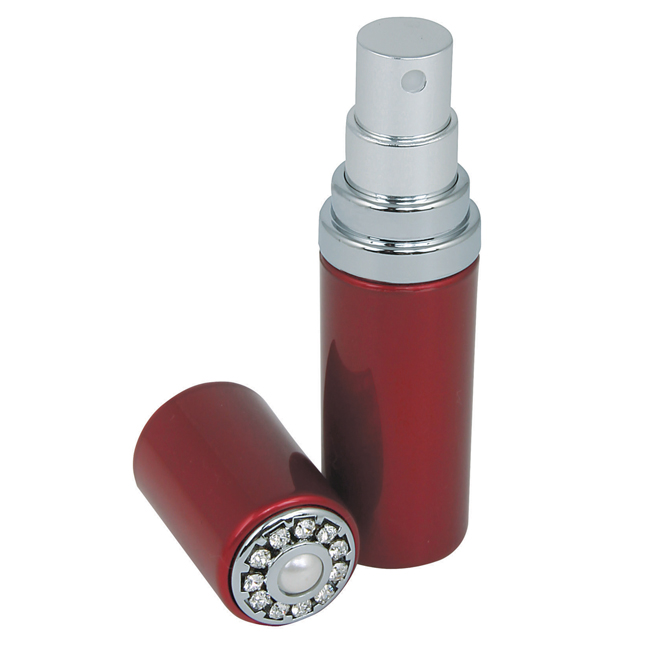 19003 Ruby PC open - Ruby Atomizer Inliad with Pearl & Swarovski Crystal Elements - 19003RUBY