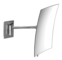Stylish tilting wall mounted 3x mag shaving/cosmetic mirror