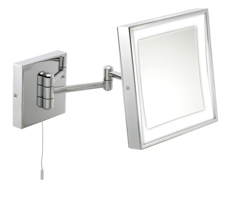 LED bathroom wall mirror that tilts