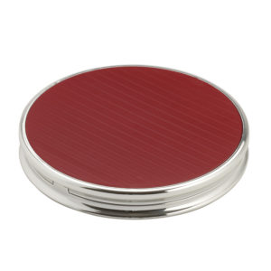 5 x magnification red & chrome travel mirror