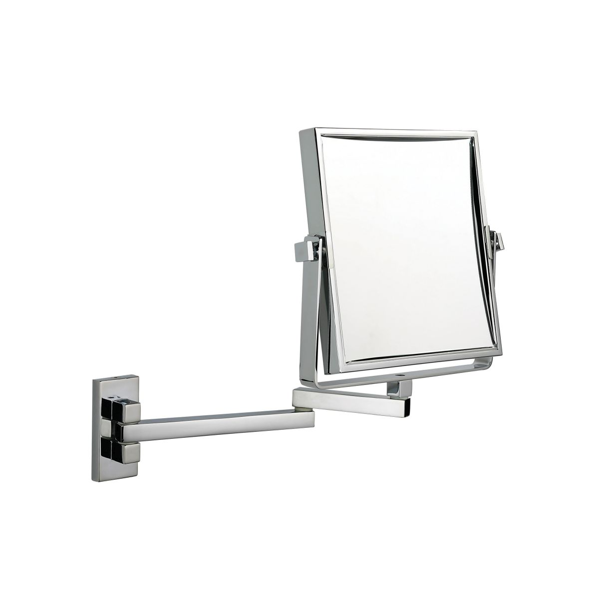 396 20 chr 3 - Chrome Wall Mirror 3x Magnification 'Fifth Avenue' - 396/20CHR