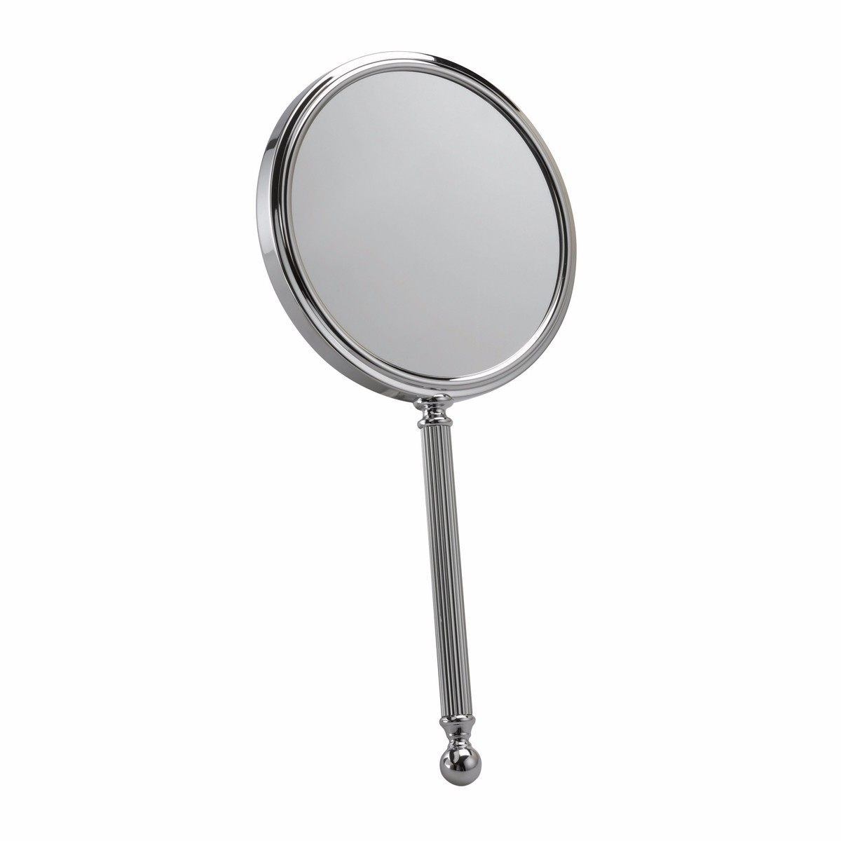 512 13C - Hand Held Chrome Mirror 5x Magnification 'Audrey' By Fmg - 512/13CHR