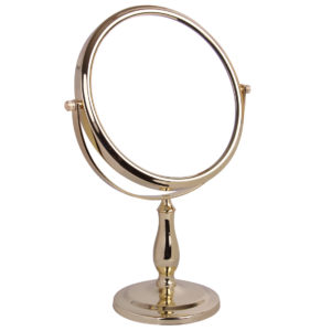 5x Magnification Pedestal Mirror - 5518/20GOLD