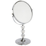 Chrome Adjustable Height Mirror With A Heavy Cast Base