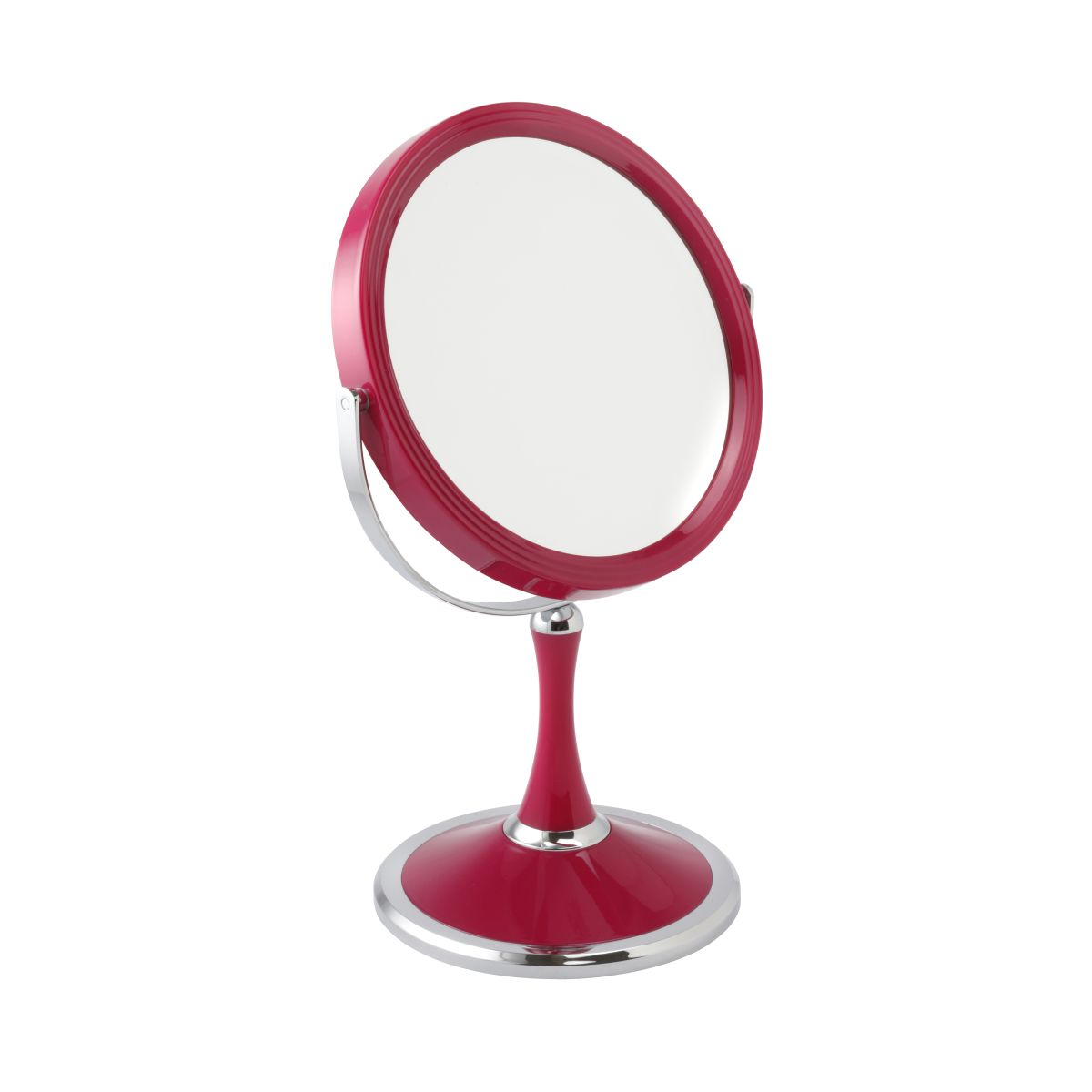 5801 18 pink 1 - Pink Pedestal 5x Magnification Cosmetic Mirror - 5801/18PINK
