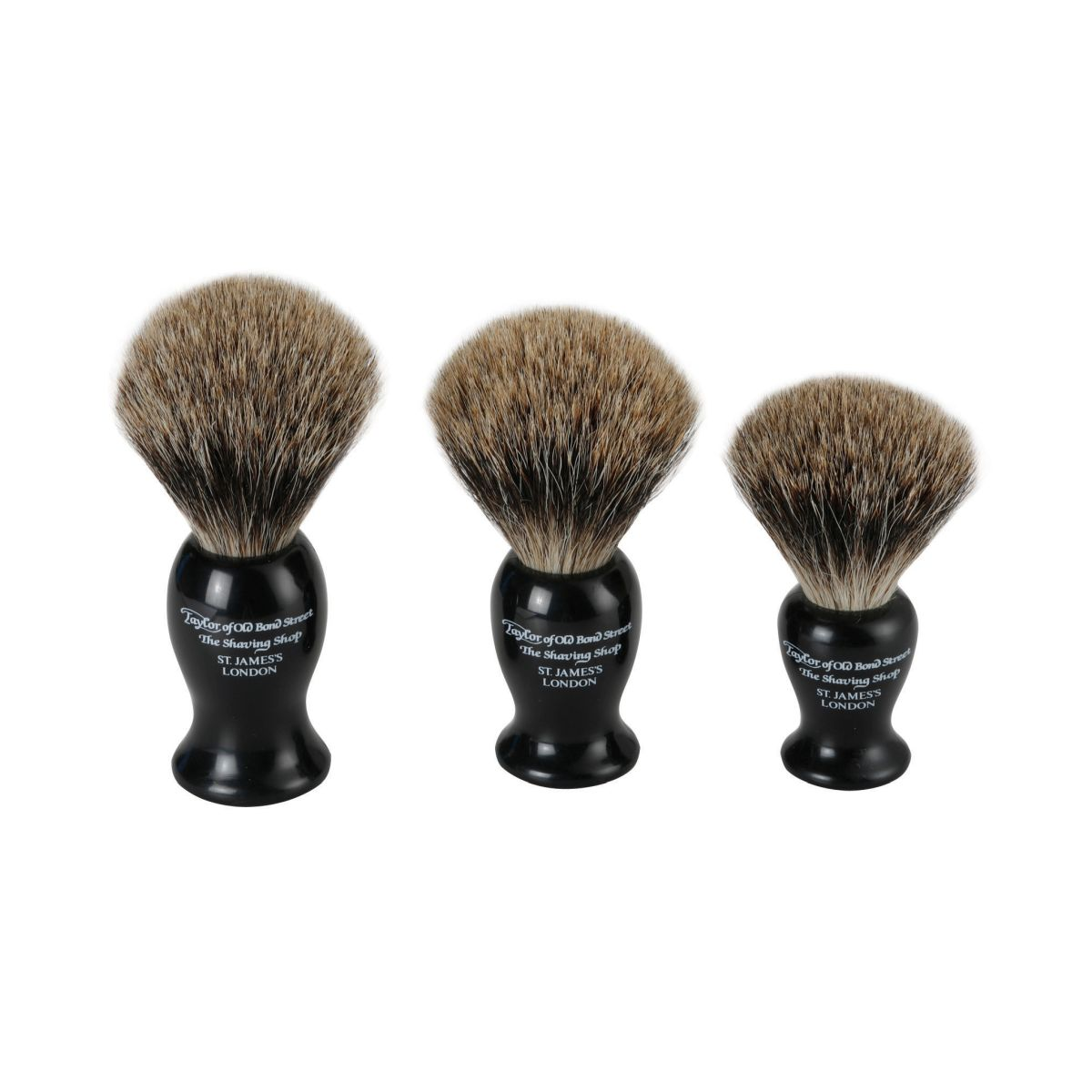 660 Black lms - Taylor of Old Bond Street Best Badger brushes - 660BL