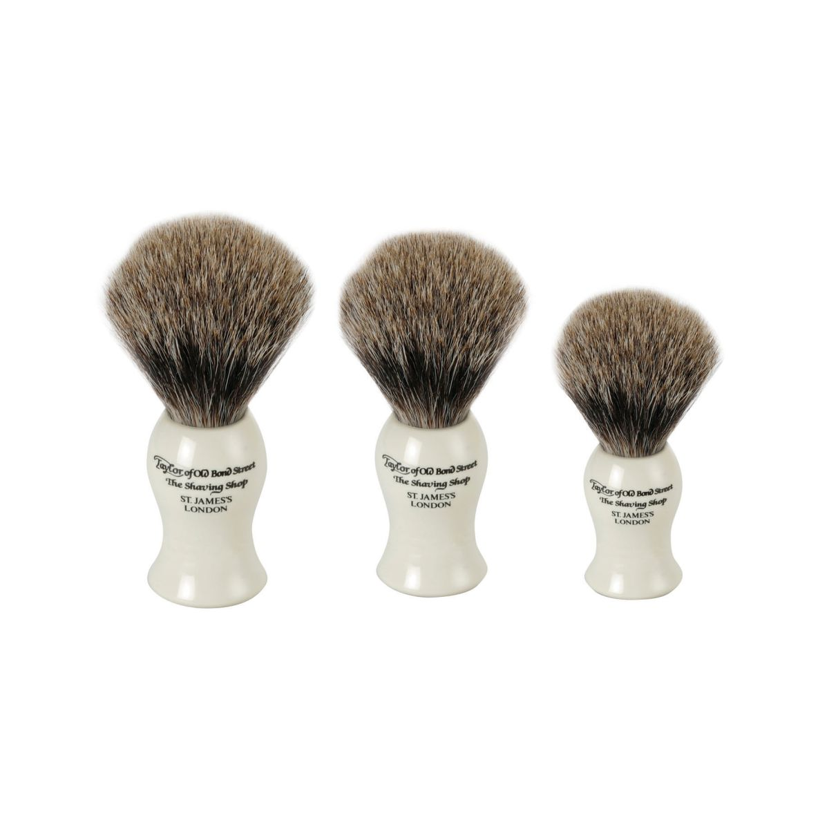 660 Ivory lms - Taylor of Old Bond Street Best Badger Brush - 660IL