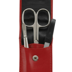 73010 red 4 300x300 - German Leather Manicure with 3 Solingen Implements - 73010RED