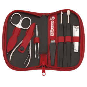 74050 NEW 300x300 - Chatsworth' Red Seven Piece German Leather Manicure Set with Solingen Precision Crafted Implements - 74050RED