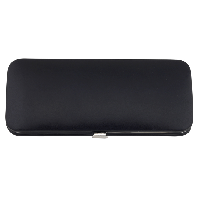 75050 black - Slimline German Leather Manicure Set - 75050BLK