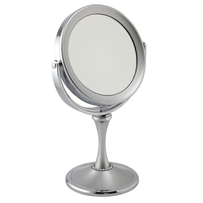 7804 18 SIL - Silver 7x Magnification Pedestal Mirror - 7804/18SIL