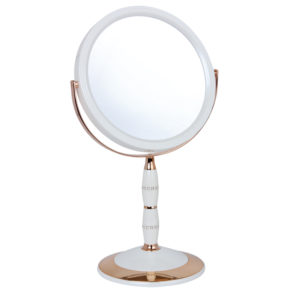 Pearl/Rose Gold 7x Magnification Mirror with Swarovski - 7808/18B/RG