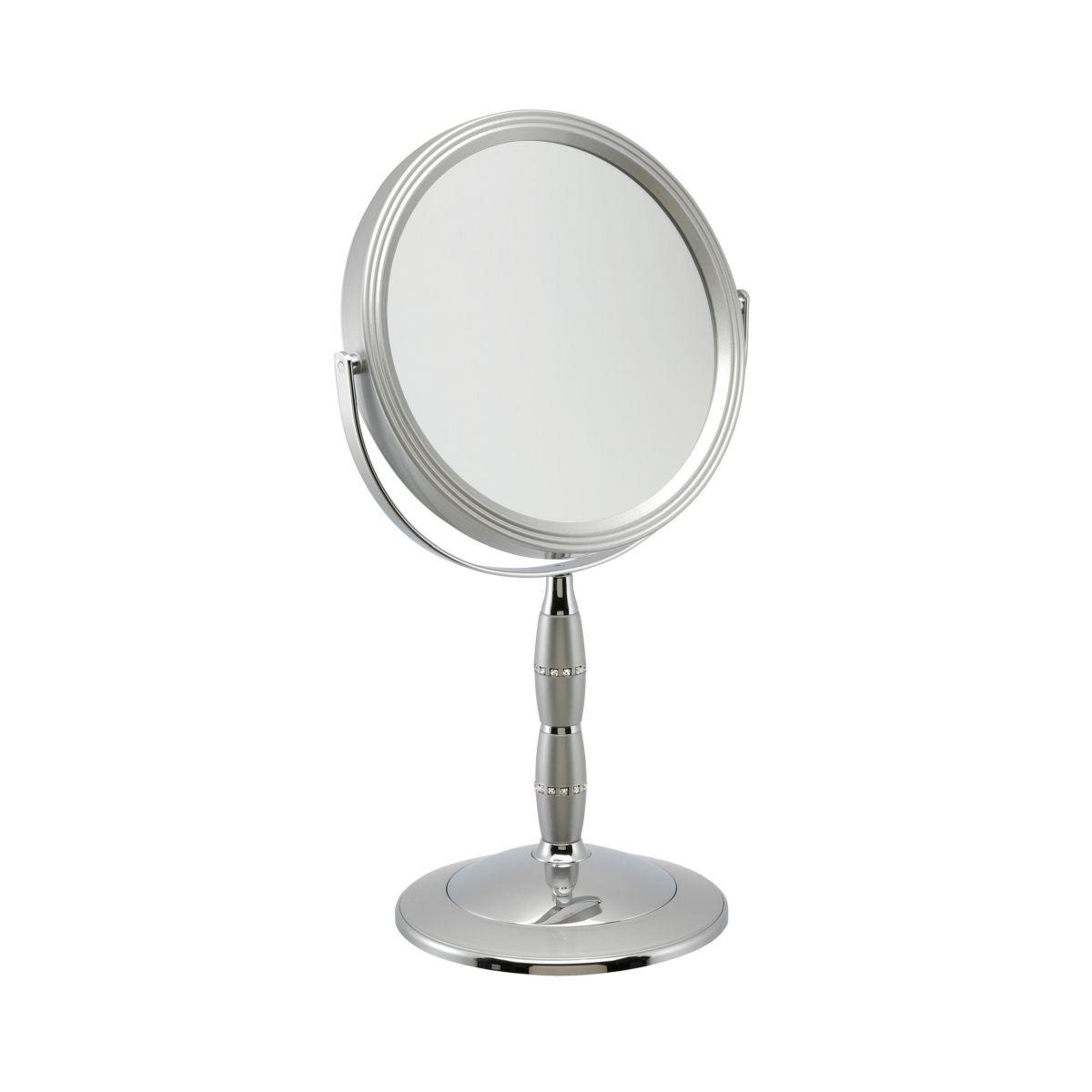 7808 18 silv - 7x Magnification Mirror with Swarovski - 7808/18S
