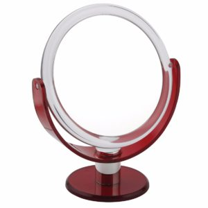 918 red 2 300x300 - 5x Magnification Mirror In Red - 918RED