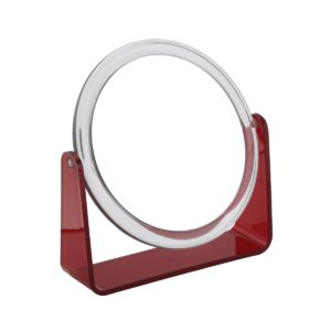 919 red 2 300x300 - Zara' 5x Magnification Mirror with Red Base - 919RED