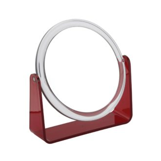 919 red 2 330x330 - Zara' 5x Magnification Mirror with Red Base - 919RED