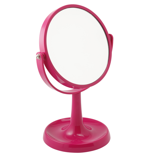 924 pink - Pink 3x Magnification Perspex Mirror - 924PINK
