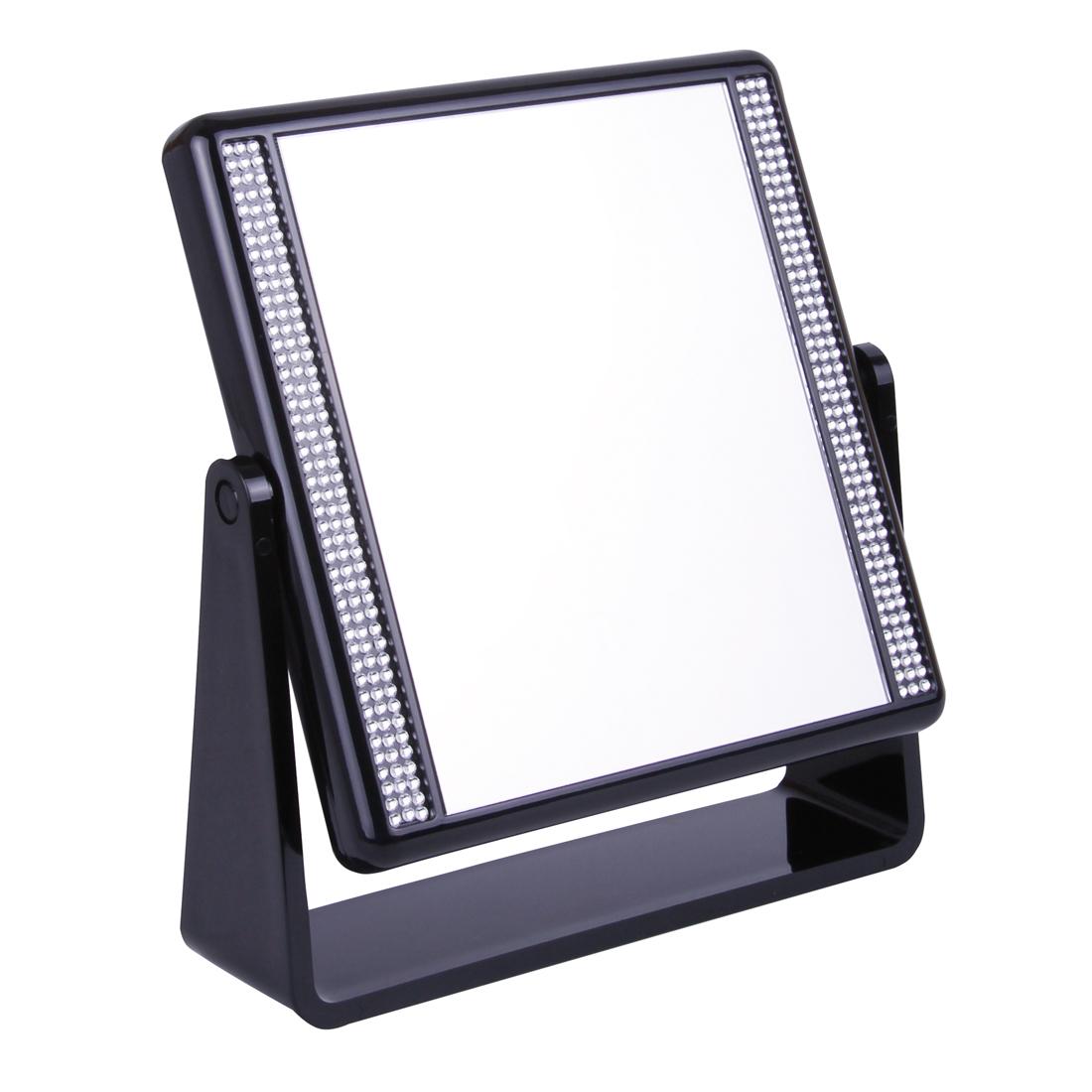 932 16 Blk - Black & White Stones 5x Magnification Mirror - 932/16