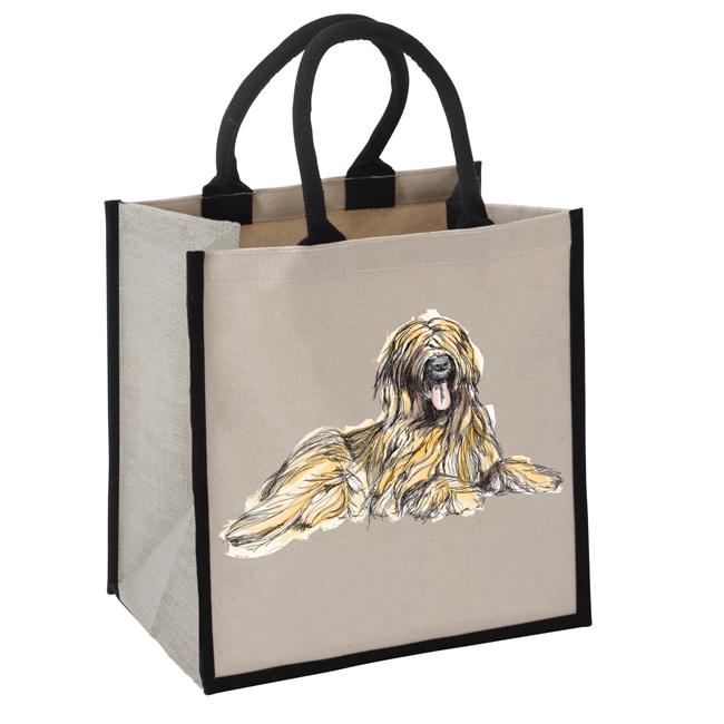 B 2004 Jute GB hairy dog - Shaggy Dog Jute Bag - B2004