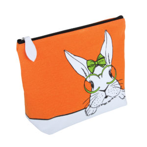 Cutie' Rabbit Canvas Cosmetic Bag - B2312
