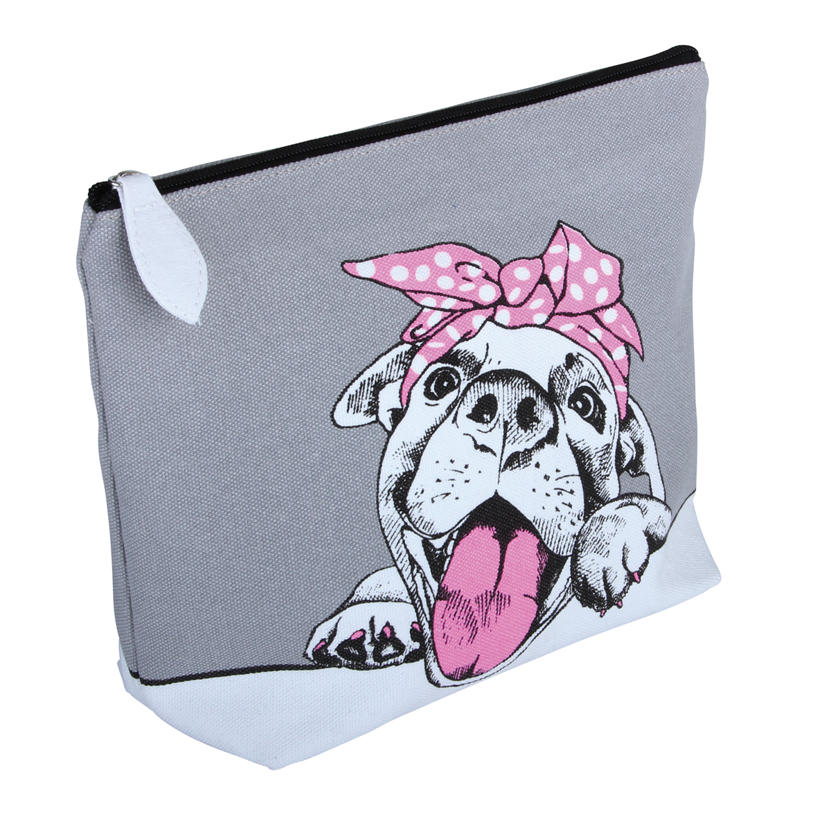Cutie' Dog Canvas Cosmetic Bag - B2314