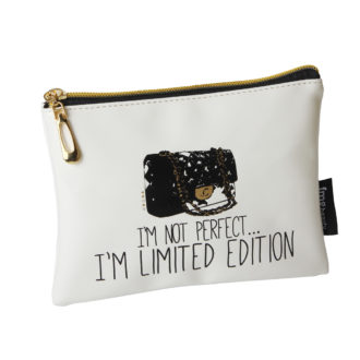I'm Not Perfect' Makeup Bag - B2069