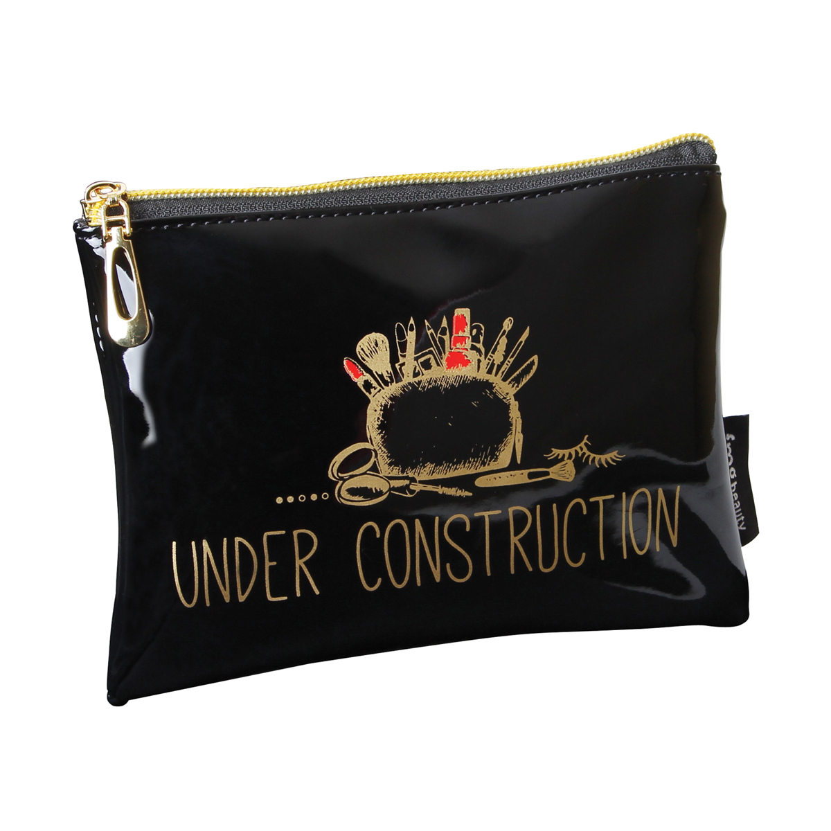 B2071 - Under Contruction' Makeup Bag - B2071