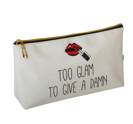 B2078 430x400 - 'Too Glam To Give A Damn' Cosmetic/Toiletry Bags - B2078