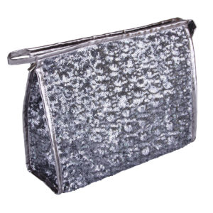 B2401 300x300 - Silver Shimmer & Shine Collection Cosmetic/Toiletry Bags - B2401
