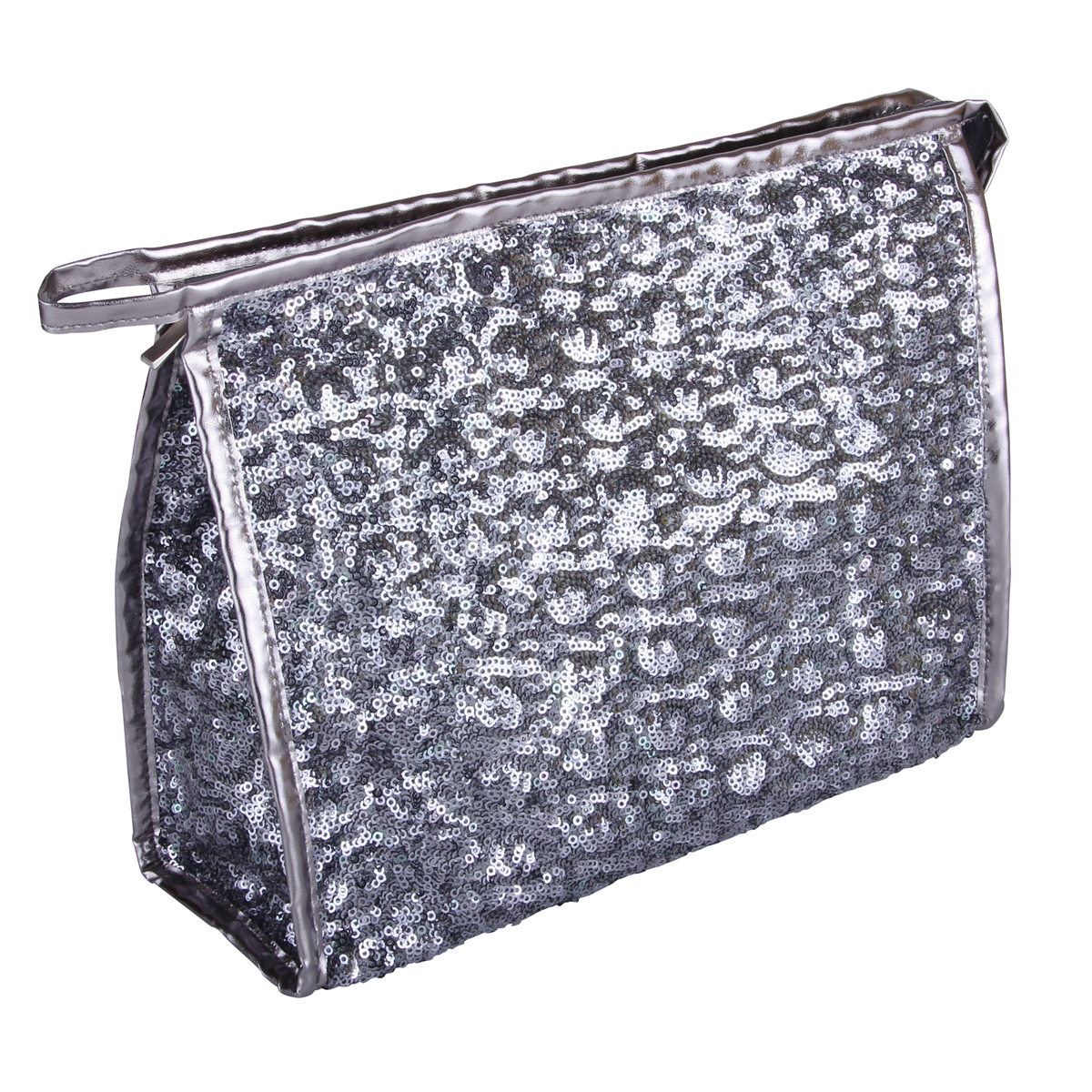 B2401 - Silver Shimmer & Shine Collection Cosmetic/Toiletry Bags - B2401