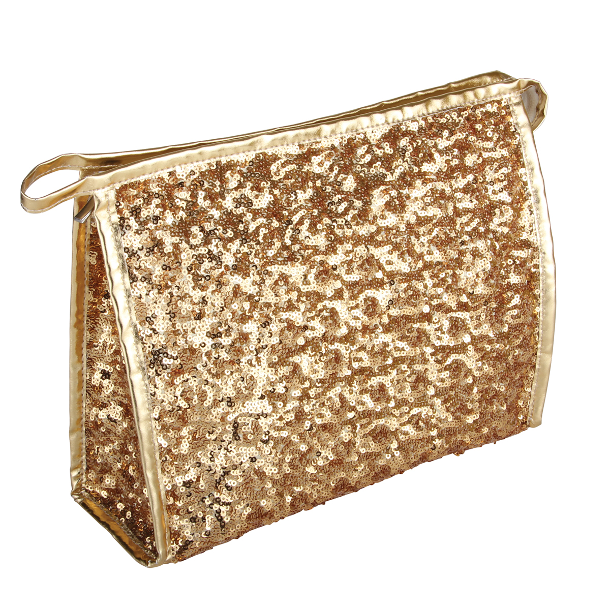 B2402 - Gold Shimmer & Shine Collection Cosmetic/Toiletry Bags - B2402
