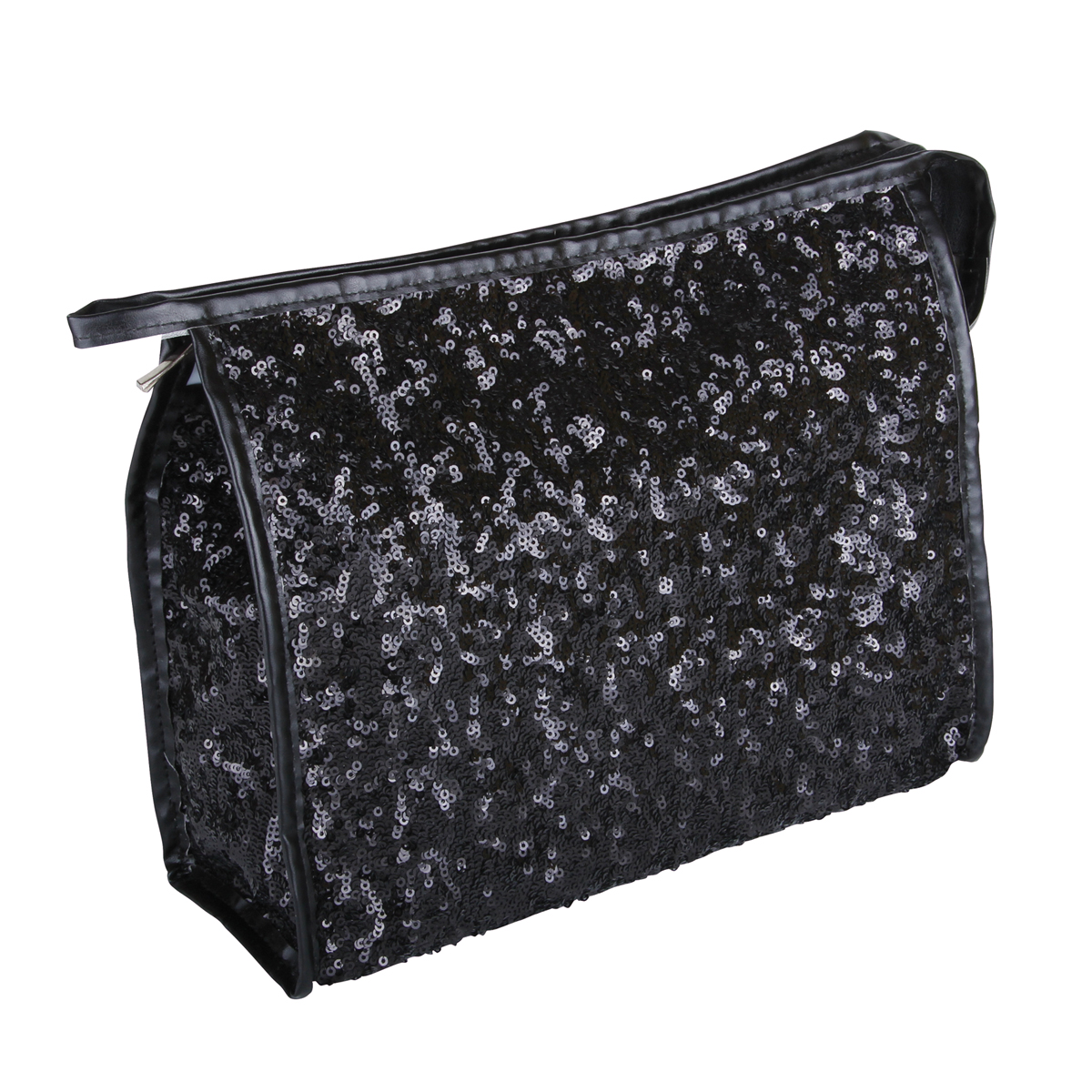 B2403 - Black Shimmer & Shine Collection Cosmetic/Toiletry Bags - B2403