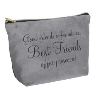Velevt Cosmetic Bag, Best Friends - B8342