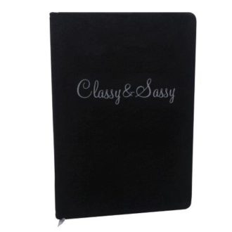 Velvet Notebook, Classy & Sassy - B8344